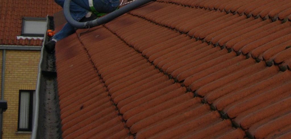 Reinigen van dakgoten